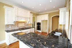 Black Granite kitchen white cabinets - Orange County, CA Fastest Cabinets