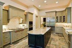 Granite kitchen green cabinets - Orange County, CA Fastest Cabinets