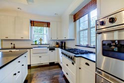 black granite white cabinets Granite kitchen - Orange County, CA Fastest Cabinets